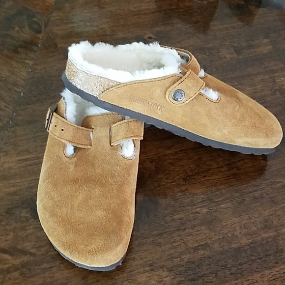 a877b748e Birkenstock Shoes - Birkenstock Boston shearling clog size 38